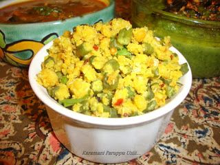 Karamani Paruppu Usili / Paruppu Usili / Paruppu Usili Recipe / Yard Long Beans with Lentils