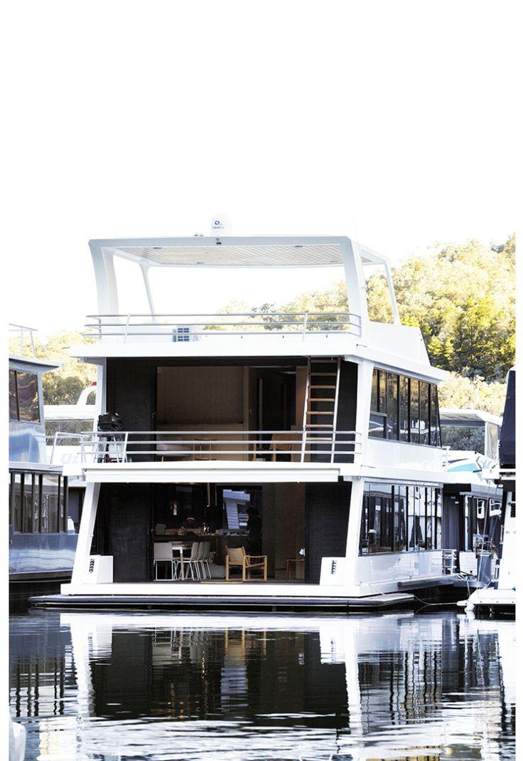 Jaloersmakende woonboot in Australië
