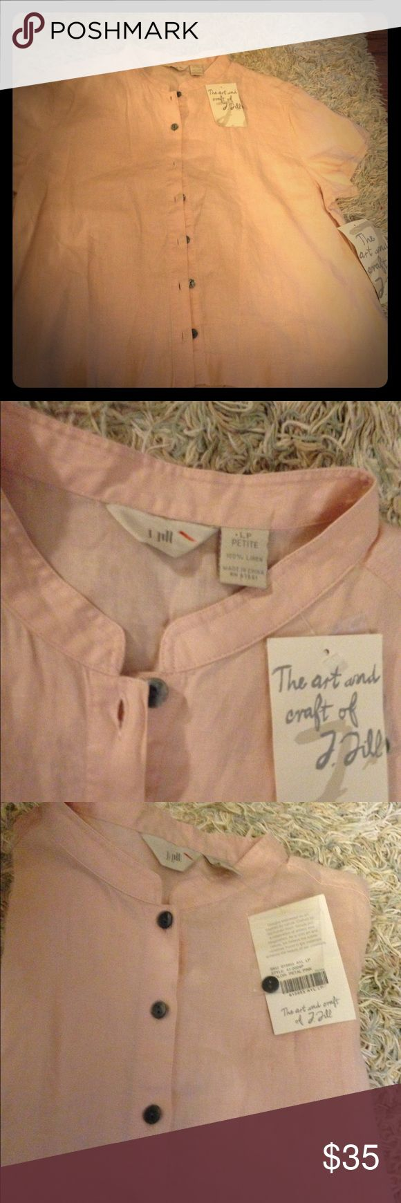 J jill pink short sleeve top large New with tags j Jill pink top. Large petites j jill Tops Tees - Short Sleeve