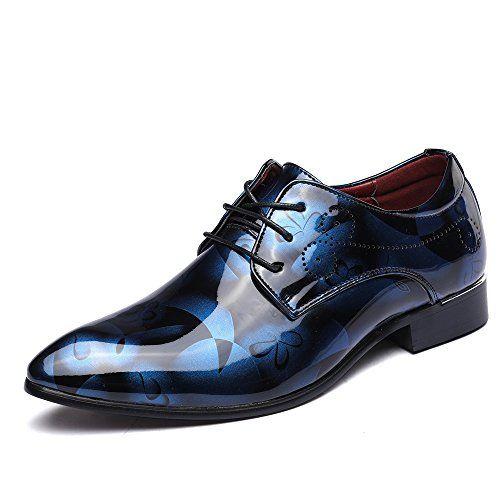 joyto zapatos oxford hombre, cuero cordones vestir derby calzado