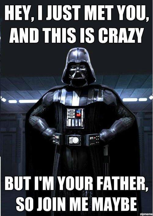 oh nerd jokesGeek, Darth Vader, Cars Rae Jepsen, Darthvader, Star Wars, Funny, Dark Side, Stars Wars, Starwars