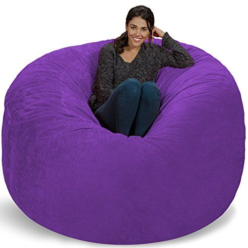 Chill Bag  Bean Bags Giant Bean Bag 6 Purple Furry -- Details can be found by clicking on the image.