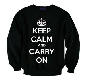 Bluza KEEP CALM AND CARRY ON sweatshirt crewneck printed napis nadruk hipster streetwear streetfashion crown korona keep calm and online store sklep internetowy