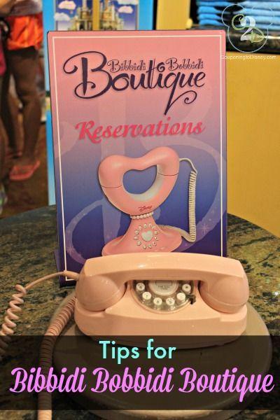 Tips for the Bibbidi Bobbidi Boutique located in Disney Springs (Downtown Disney)