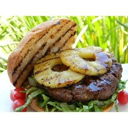 Pineapple Teriyaki Burgers - These large burgers have the tropical flavors of teriyaki, ginger, and pineapple.
