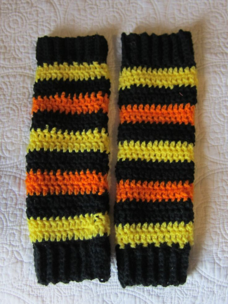 Fingerless Gloves,Texting Gloves,X-tra Long Gloves,Arm Warmers,Blk Yellow & Orange Gloves,Fingerless,Winter Fashion,Long Gloves,Winter Glove by Kitkateden on Etsy