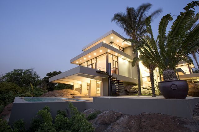 Spectacular. Almost has a 360 degree view of Johannesburg (house based in Bedfordview)