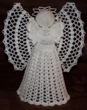 Crocheted Angel by Jennies Glasswork