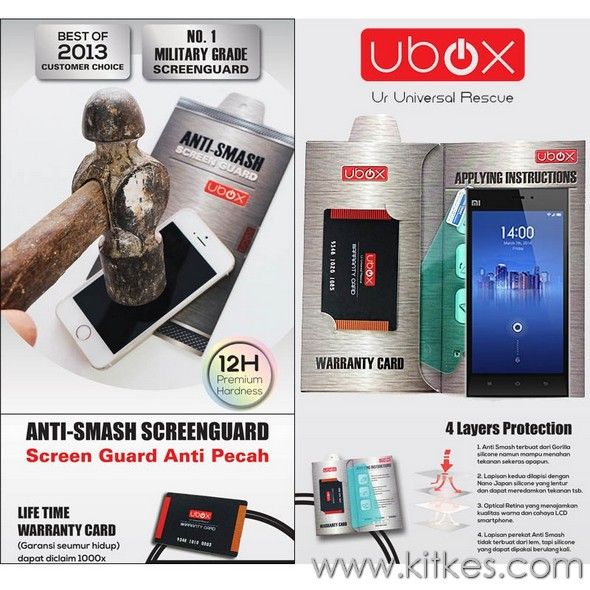 Ubox Anti-Smash 0.25mm Xiaomi Mi4 - Rp 120.000 - kitkes.com