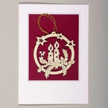 Exklusive Weihnachtskarten mit herausnehmbarem Holzhänger, perfekt als…