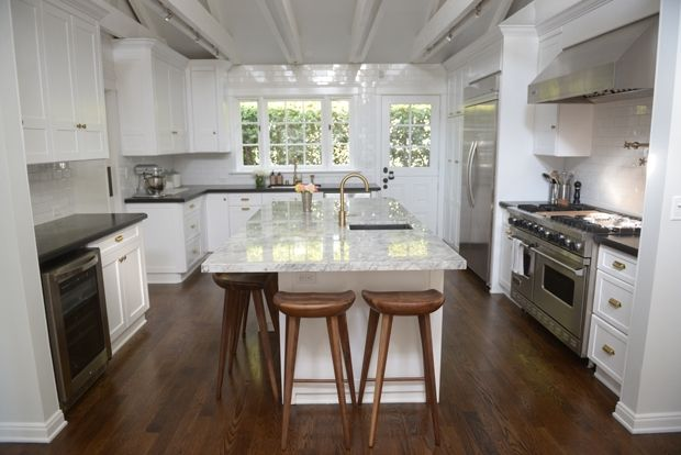 Amber Interiors gives the kitchen of a popular fashion blogger a major makeover.