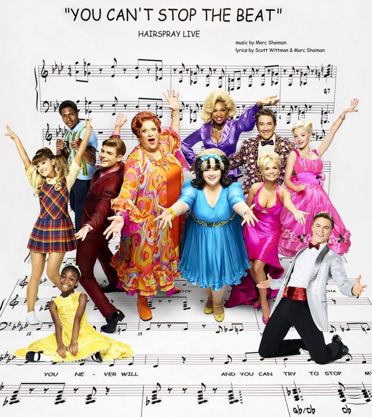 """Meet The All Star Cast Of Hairspray Live!! Ephraim Sykes as Seaweed J. Stubbs, Jennifer Hudson as Motormouth Maybelle, is Martin Short as Wilbur Turnblad, Dove Cameron as Amber Von Tussle, Ariana Grande as Penny Pingleton, Garrett Clayton as Link Larkin, Harvey Fierstein as Edna Turnblad, Maddie Baillio as Tracy Turnblad, Kristin Chenoweth as Velma Von Tussle, Shahadi Wright Joseph as Little Inez, and Derek Hough as Corny Collins. (Photo: Brian Bowen Smith/NBC)"