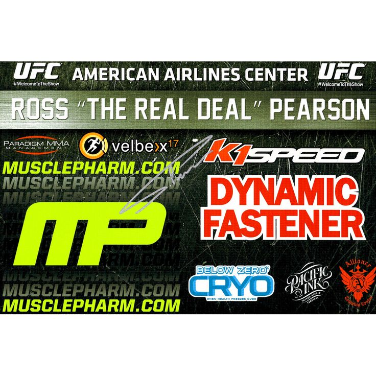 Ross Pearson Ultimate Fighting Championship Fanatics Authentic Autographed 11'' x 17'' UFC 185 Mini Replica Sponsor Banner - $39.99