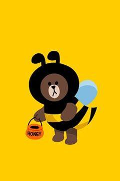 honey brown LINE messenger