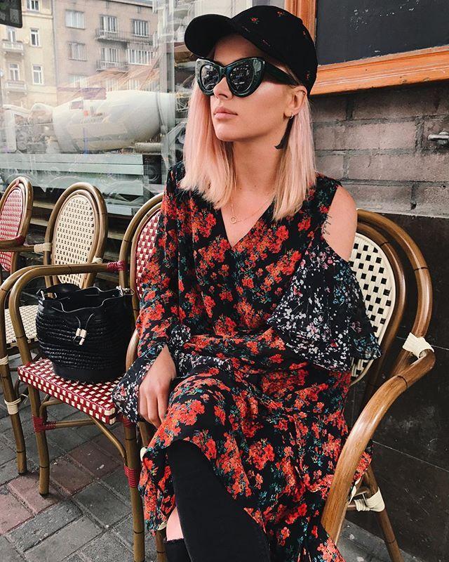Instagram media by maffashion_official - #ootd #reserved #dress #cap #alexanderwang #bag #celine #glasses
