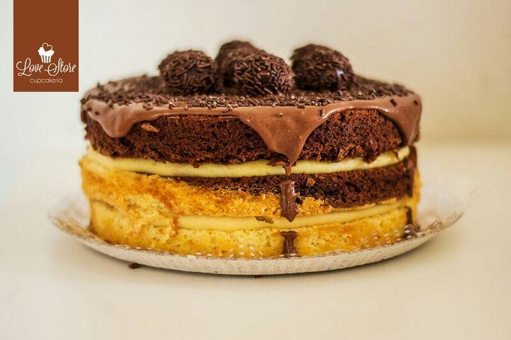 Makes Cake Brigadeiro e Baunilha