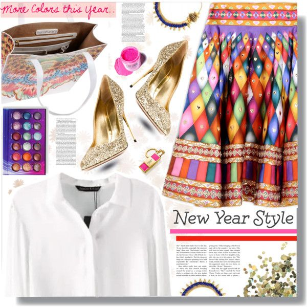 New Year's Style Resolution by prigaut on Polyvore featuring Manish Arora, Sebastian Milano, Topshop, Medusa's Makeup, Estée Lauder, ASOS, women's clothing, women's fashion, women and female