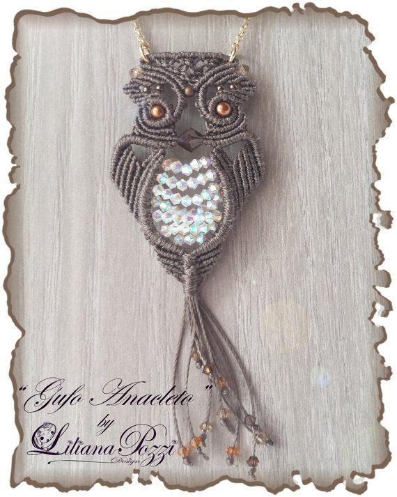 Tutoriel photo en format PDF pour faire «Anacletus» macramé OWL.                                                                                                                                                                                 Plus