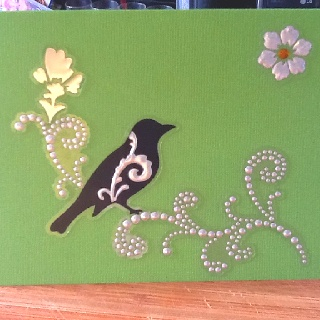 I put a bird on it ;) Did anyone get that reference??  these stickers are beautiful!! very posh looking :)