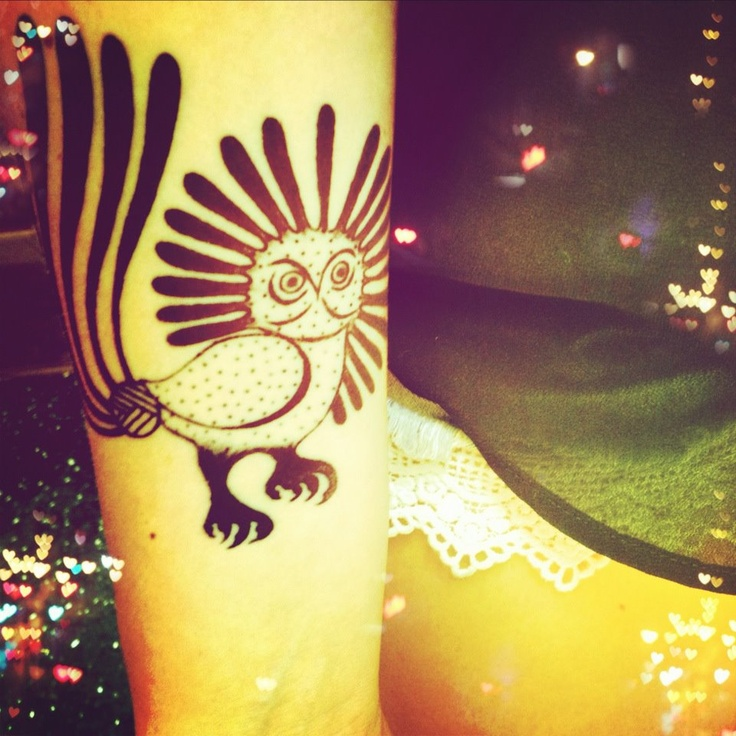I Got This Tattoo Of The Inuit Owl On My Right Forearm On
