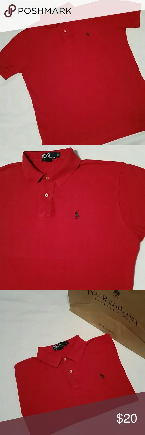 RL POLO final price  In excellent used condition. No damage, no rips, no stains.  Classic fit  Beautiful rich red. Color fade 9 of 10  Premium colors like red never go on sale at Macy's or Ralph Lauren. Polo by Ralph Lauren Shirts Polos