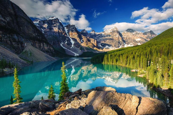 Moraine Lake; A hidden gem within the Canadian Rocky Mountains. #Canada