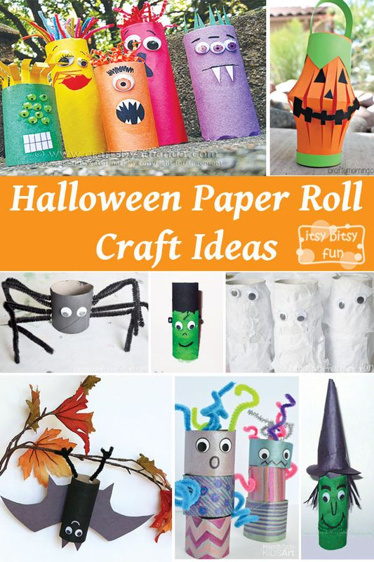 Fun Halloween crafts for kids made from toilet paper rolls!