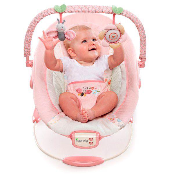 Bright Starts Felicity Floral - Hamaca rosa para bebé