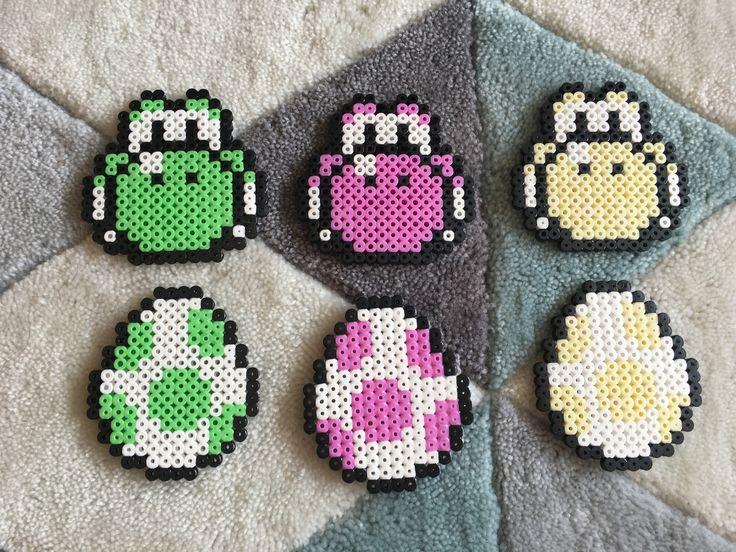 Lot de 6 dessous de verre univers Mario avec Yoshi. : Cuisine et service de table par cece-creation