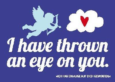 Postkarte Forbetter your Englisch 032b I have thrown an eye on you Depesche…