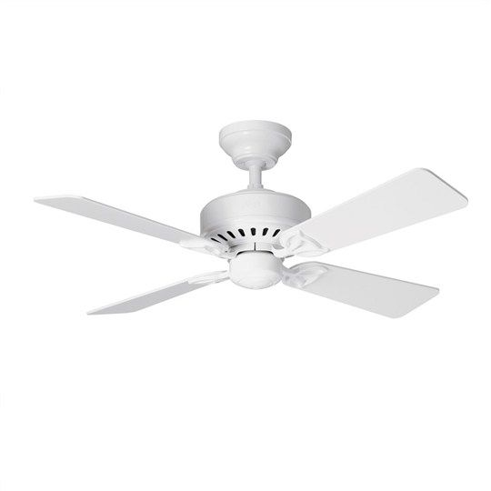 Hunter Bayport Commercial Grade White Traditional Ceiling Fan - White Blades - Ceiling Fans - Fans and Heaters