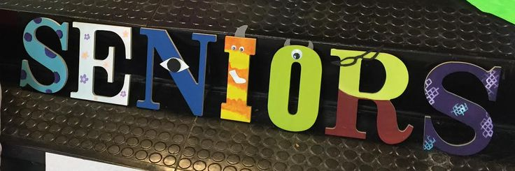 PIXAR Themed Homecoming hallway decor-Monsters Inc. Letters