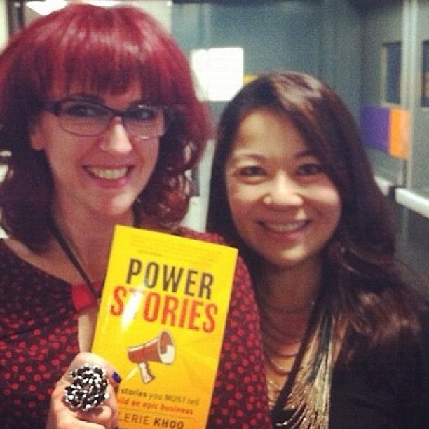 From the amazing Yvonne Adele (thanks for the kind words!): What's not to love about @valeriekhoo ? What a gem! Love her #powerstories book about the stories you need to tell to build your biz