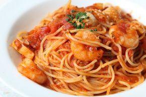Espaguetis con gambas y atún. Un plato fácil y exquisito  #EspaguetisConGambasYatun #RecetasDeEspaguetis #RecetasDePasta #RecetasItalianas