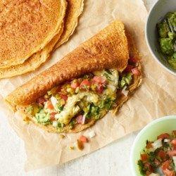 Egg & Avocado Pancake Breakfast Wraps - EatingWell.com