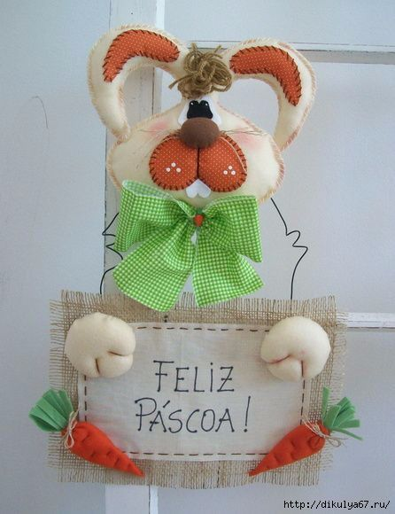 36 best conejos images on pinterest rabbits easter for Manualidades de conejos