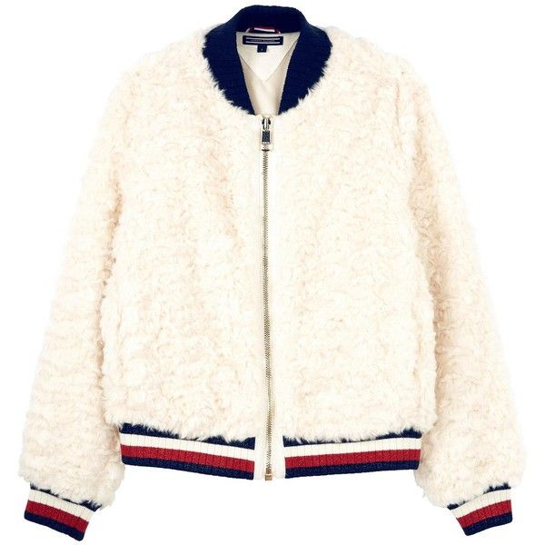7fecc98082bca1 Tommy Hilfiger Carlo Faux Fur Bomber Jacket ( 230) ❤ liked on Polyvore  featuring outerwear