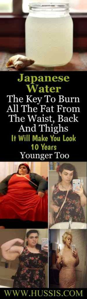Herbs for weight loss Japanese Water: The Key To Burn All The Fat From The Waist, Back And Thighs ! It Will Make You Look 10 Years Younger Too