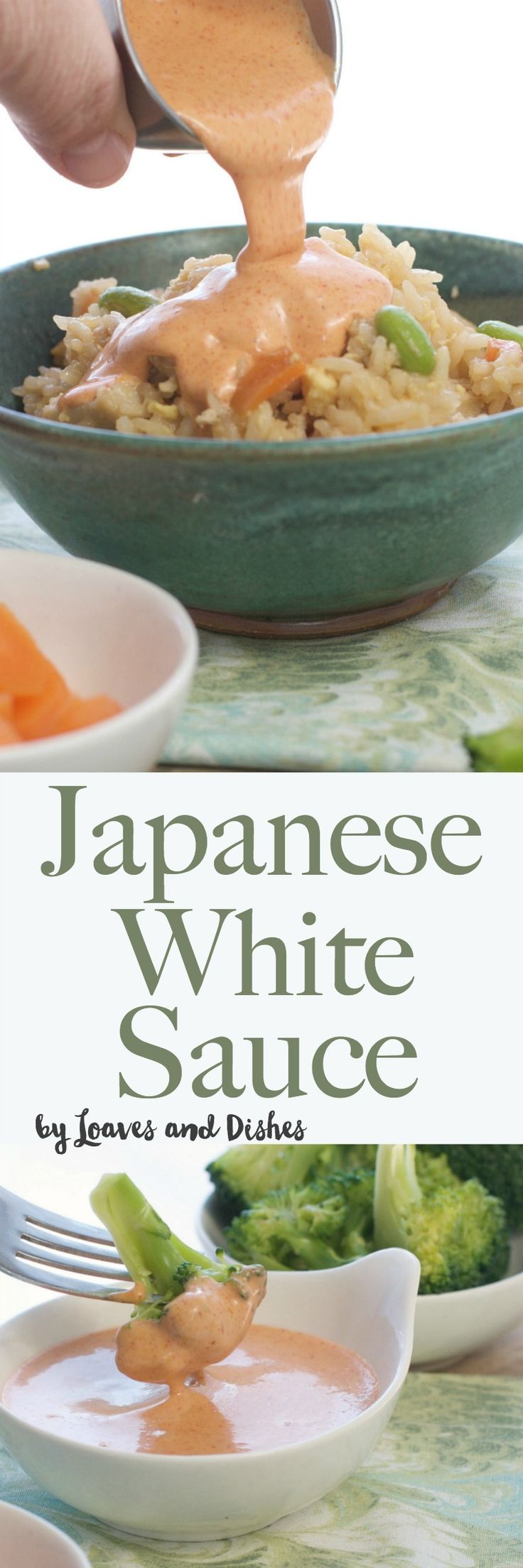 The recipe for the famous Japanese White Sauce served in Japanese Steak Houses!  Yum Yum Sauce, Benihana Sauce, Shrimp Sauce - you know it by many names.  Homemade with garlic powder.  Perfect over stir fry rice and vegetables!