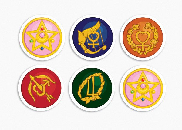 Sailor Jupiter Symbol 2 sets of 6 sailor moon | tattoos ...