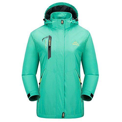 #iBaste Outdoorjacke für Damen und Herren Softshell Jacke mit Kapuzen Winterjacke damen Windbreaker Übergangsjacke-GR-L, 00652811322606