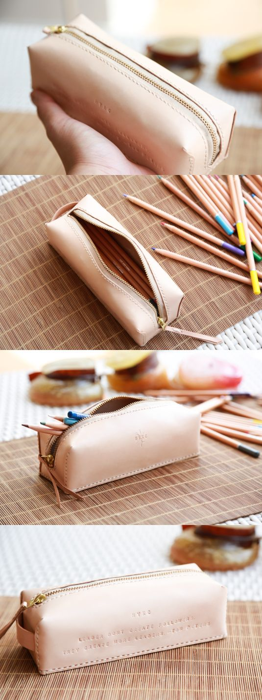 Personalised Leather Pencil Case