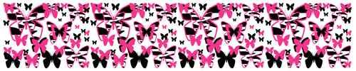 Hot Pink Zebra Butterfly Wall Border Decals for Teen Girls or Kids Room Decor #decampstudios http://cgi.ebay.com/ws/eBayISAPI.dll?ViewItem=370892737123