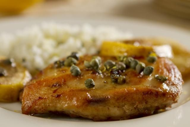 Try this classic American Lemon Chicken recipe made with browned chicken cutlets and a sauce of lemon juice, capers, butter and stock or wine. Find more great chicken cutlet recipes here.