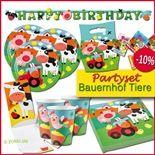 Bauernhof - Partyset Kindergeburtstag