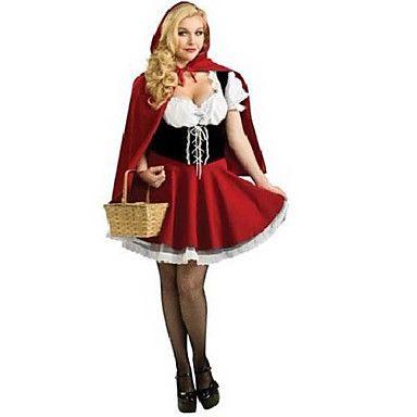 Cosplay Kostuums / Feestkostuum Sprookje Festival/Feestdagen Halloween Kostuums Rood Patchwork Kleding / Mantel Halloween / Carnaval 1341691 2017 – €20.28