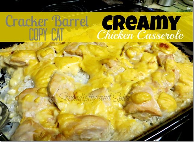 Creamy chicken and rice, Creamy chicken and Rice casserole on ...