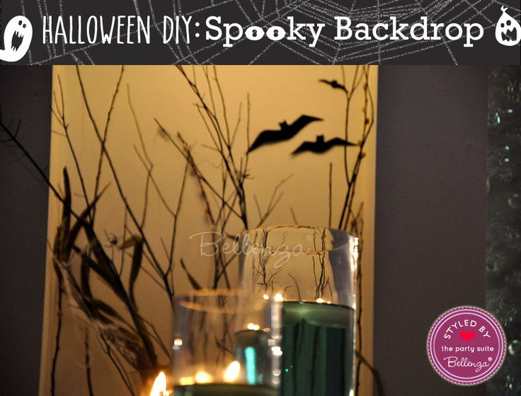 Spooky Halloween DIY Backdrop for Your Home\u0027s Entryway Diy - halloween backdrop