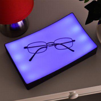 Lampe de chevet tactile Chambre variation de la lumière LED bleue Blue Table