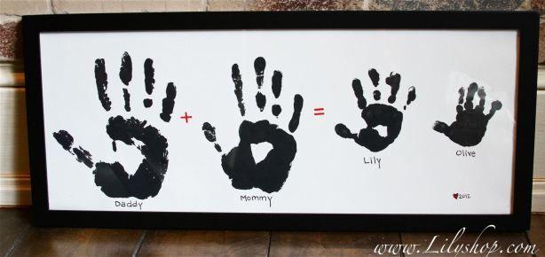handprint family framed gift